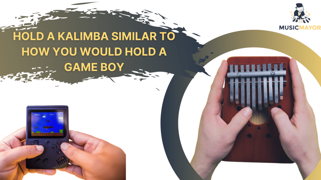 how to hold a kalimba