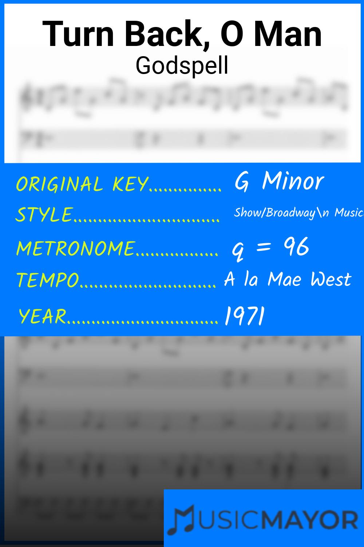 Turn Back, O Man Sheet Music