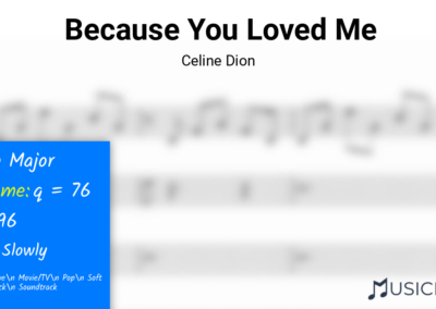 Because You Loved Me | Celine Dion