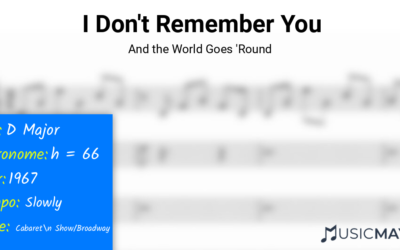 I Don't Remember You | And the World Goes 'Round