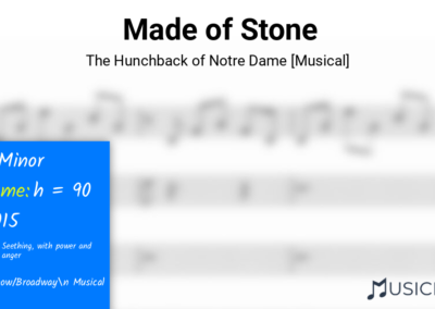 Made of Stone | The Hunchback of Notre Dame [Musical]