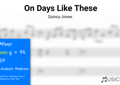 On Days Like These | Quincy Jones