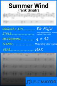 Summer Wind-Frank Sinatra-Db Major Songs