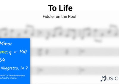 To Life | Fiddler on the Roof