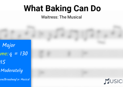What Baking Can Do | Waitress: The Musical