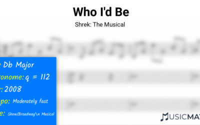 Who I'd Be   Shrek: The Musical