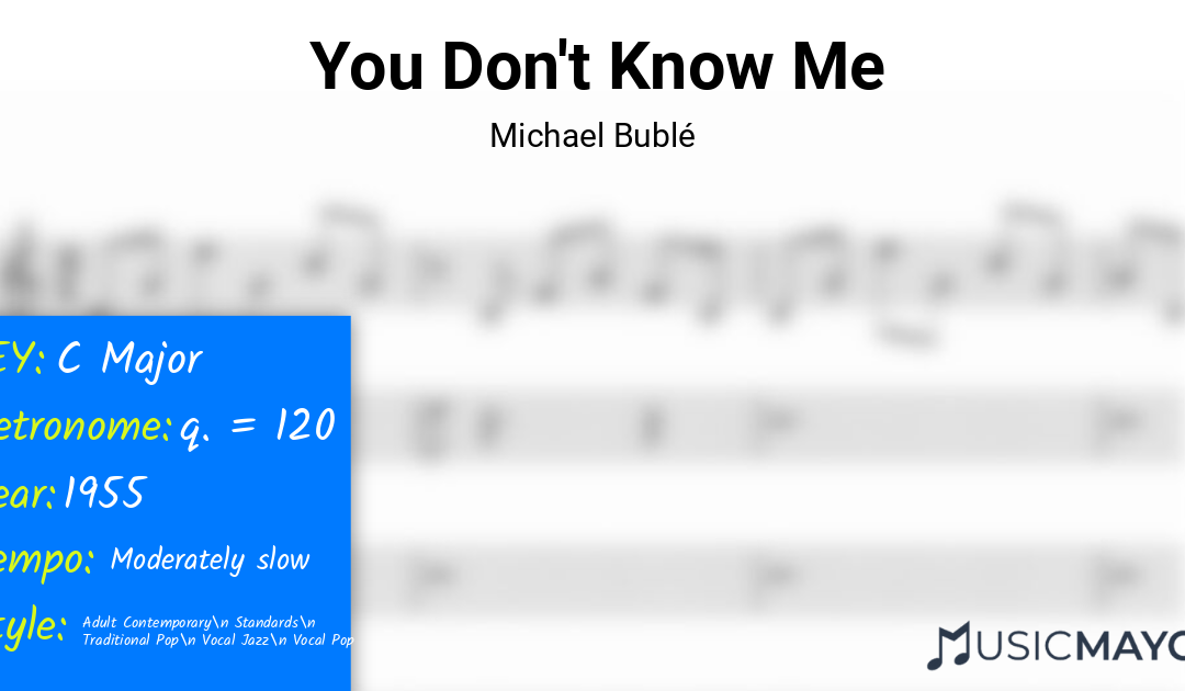 You Don't Know Me-Michael Bublé-learn-to-play