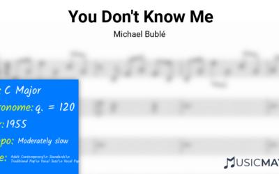 You Don't Know Me | Michael Bublé