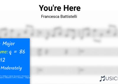 You're Here | Francesca Battistelli