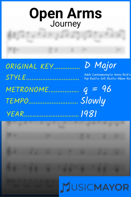 Open Arms Sheet Music