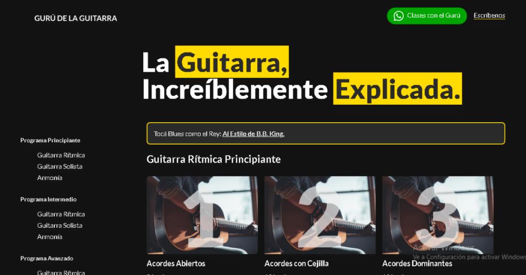 Mejores cursos de guitarra online Guru de la guitarra Homepage