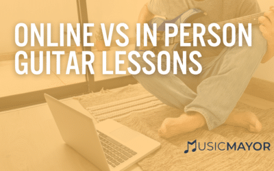 Online guitar lessons vs. in-person guitar lessons